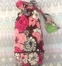 1fa1658d5751 NWT Vera Bradley Cheers To You Wine Bottle Gift Bag PINK Mocha Rouge ...