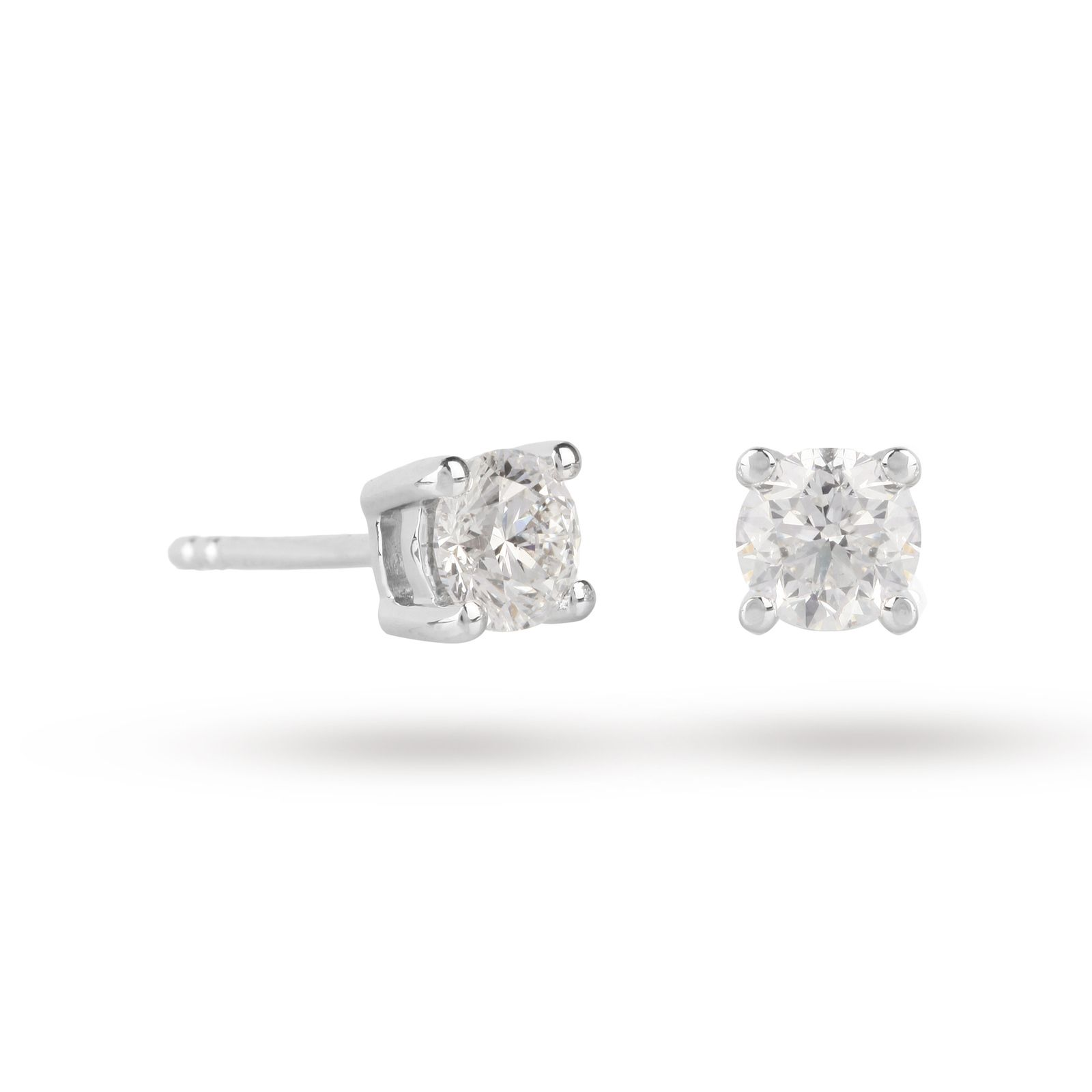 18ct White Gold 1.00ct Brilliant Cut D Colour Diamond Earrings | Earrings |  Jewellery |