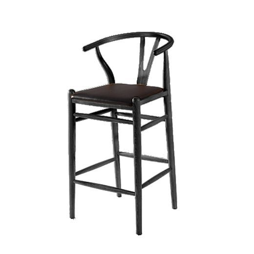 Lovely Black Iron Bar Stools
