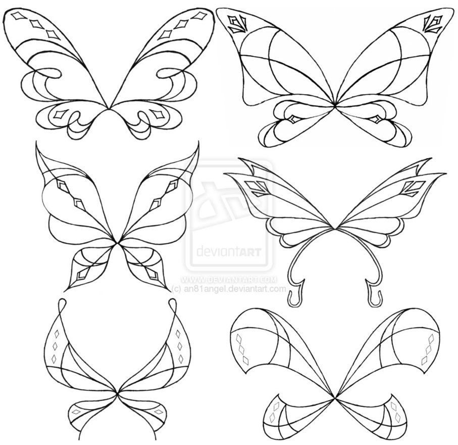 Love-ix Wings Sketch Set by ~an81angel on deviantART | Craft stuff ...