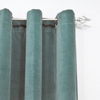 "Brite Ideas Living Single Curtain Panel Size: 52"" W x 108"" L, Color: Brown"