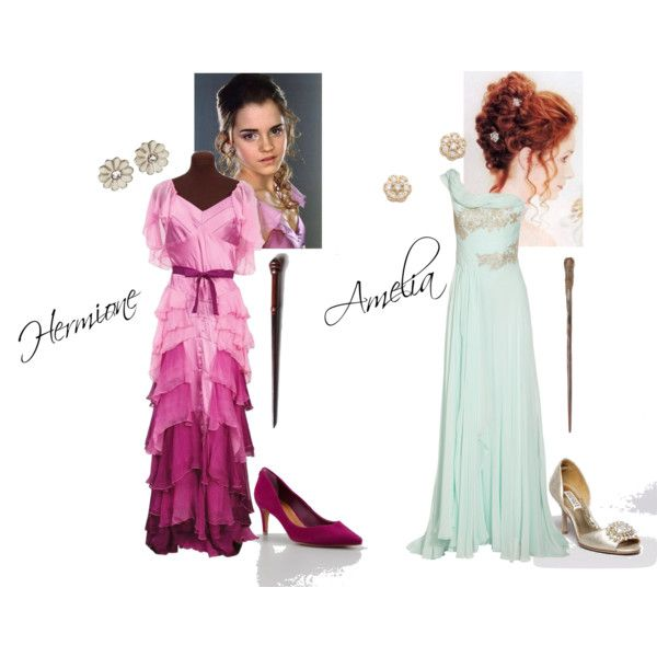 Hermione Granger and Amelia Potter - Yule Ball | harry ...