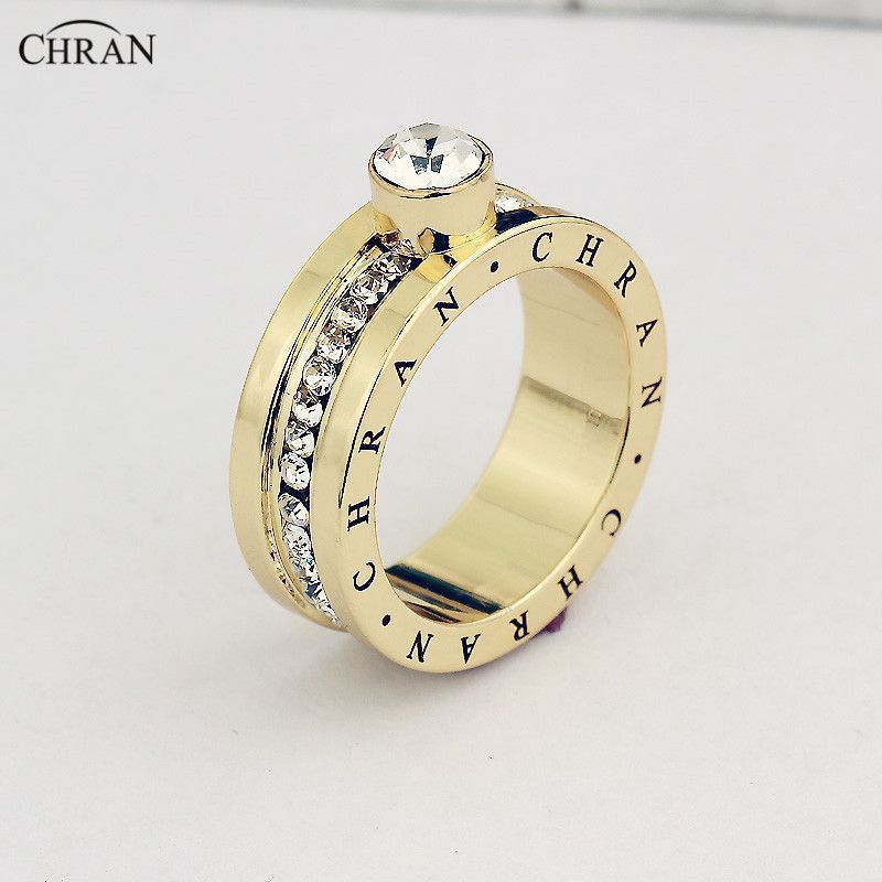 Classical Gold Plated Finger Engagement Rings For Women Brand ...
