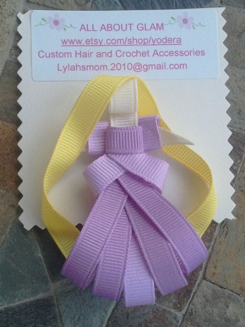 Disney Princess Rapunzel Hair Clip by yodera on Etsy, $7.50