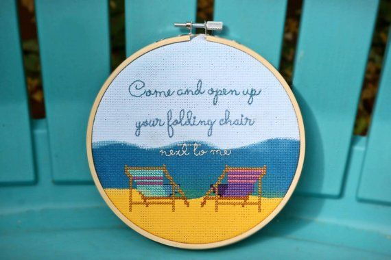 Folding Chair Regina Spektor Lyrics Duet Rollator Transport Come And Open Up Your Next To Me Completed Cross Stitch