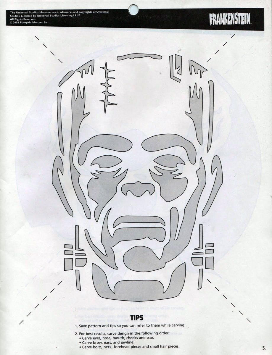 frankenstein carved pumpkin template - google search | shirts & co