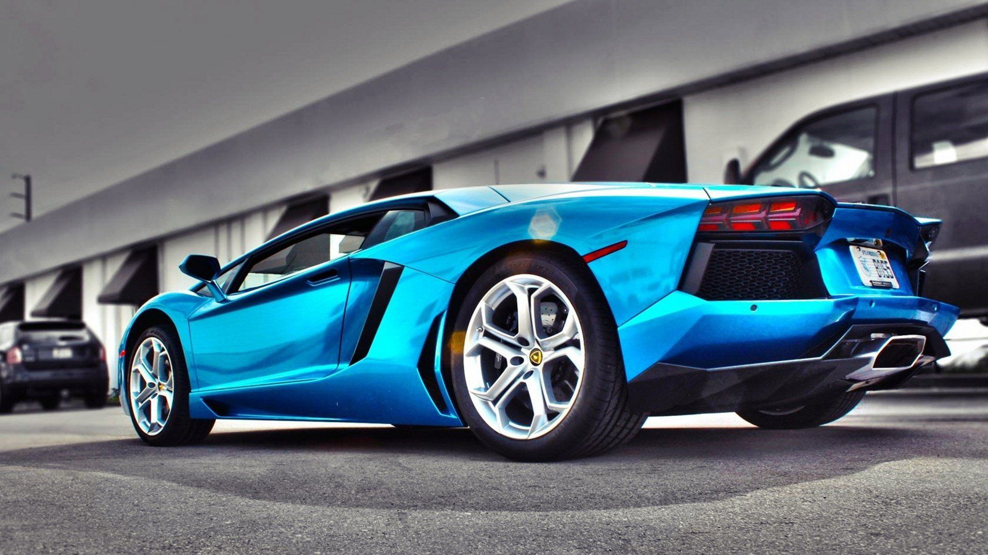 blue lamborghini wallpapers background