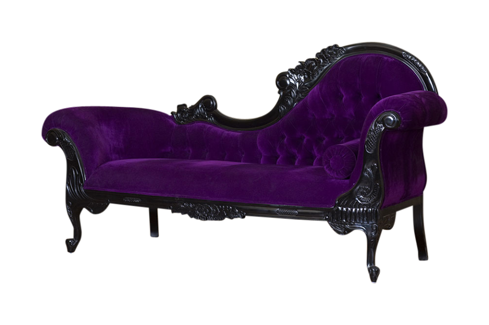 Haunt Furniture The Harlow Chaise Purple In 2020 Goth Home