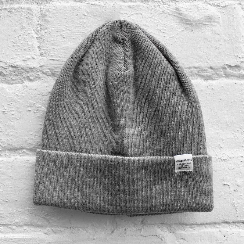 045a0c453f0 Norse Projects Top Beanie Light Grey Melange