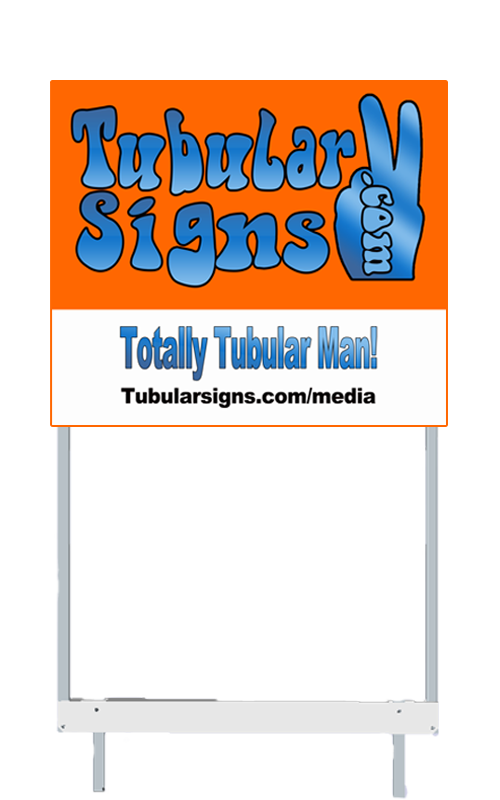 tubular signs patent pending foldable real estate signs real