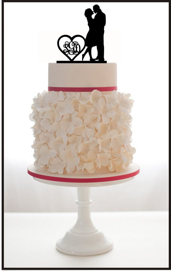 Custom Monogram with Silhouette Cake Topper and a di Mclaserpro