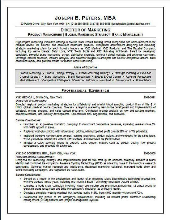 Director Of Marketing Resume Example Resume Examples Marketing