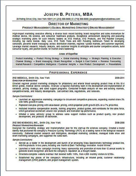 Director Of Marketing Marketing Resume Sales Resume Examples Resume Examples