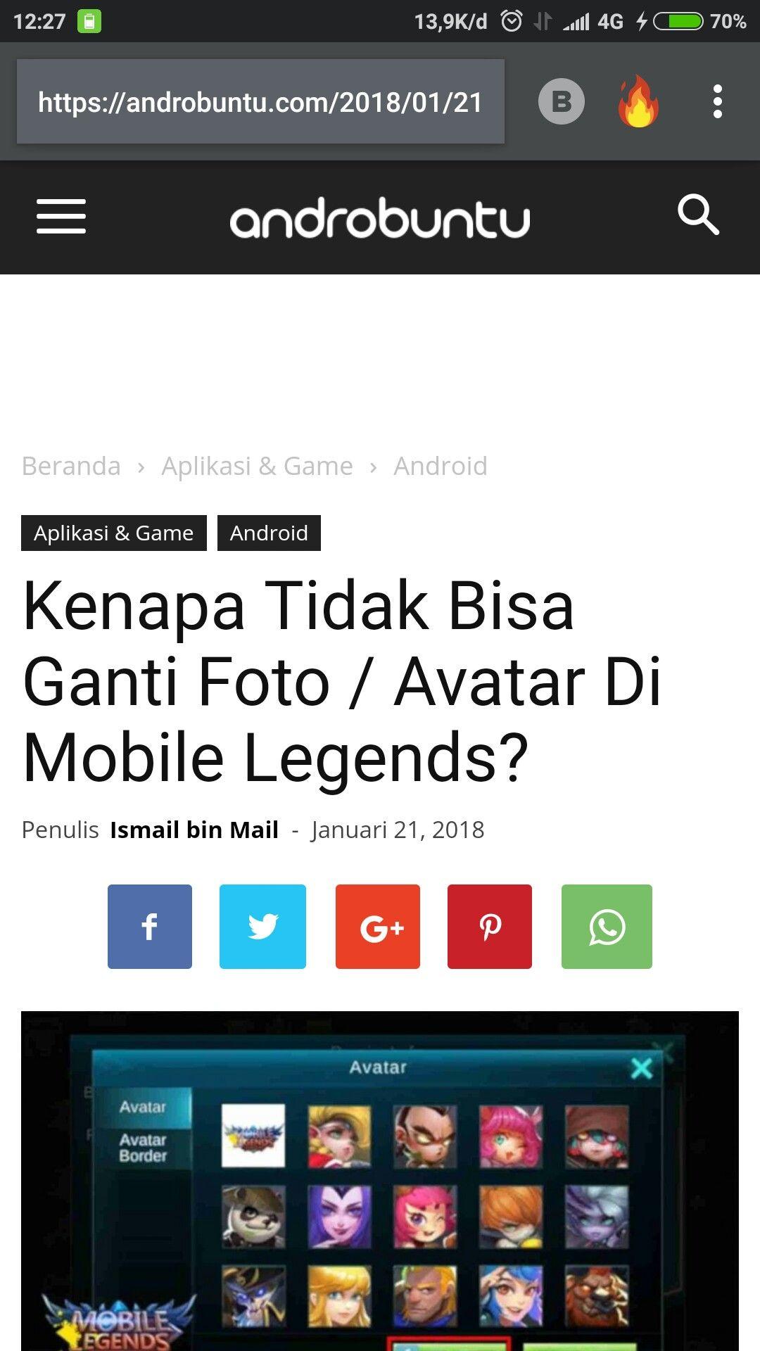 Kenapa tidak bisa ganti avatar di mobile Legends Cari tahu jawabannya di androbuntu