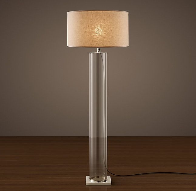 Column Floor Lamp Classic Glass Column Floor Lamp  Restorationhardware  Pinterest