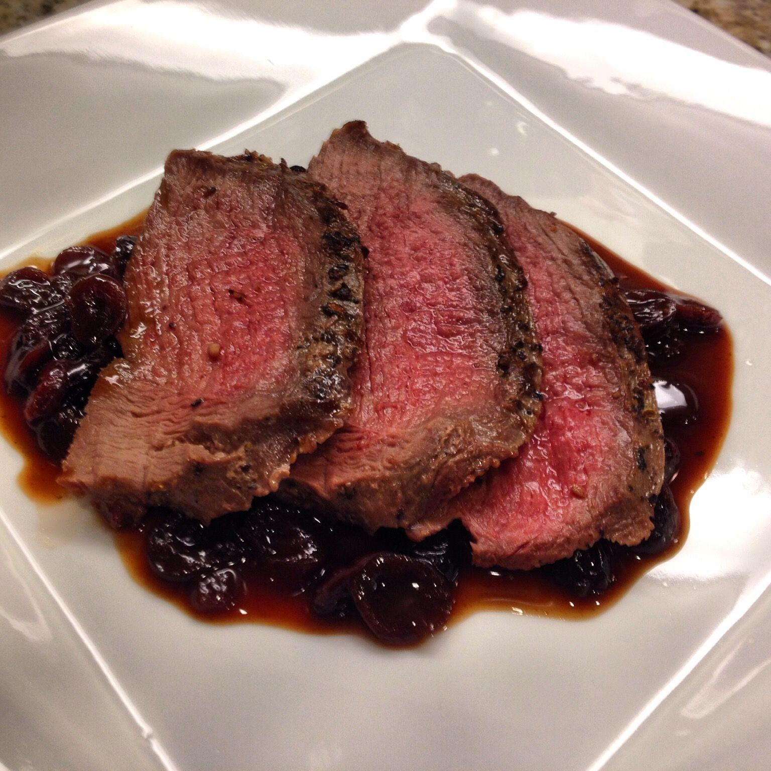 Venison With A Quick Red Wine Pan Sauce Recipe Red Wine Reduction Sauce Reduction Sauce Recipe Venison Recipes