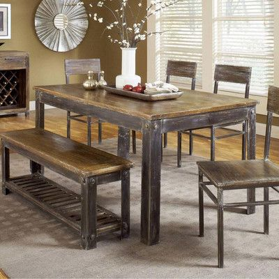 Modus Furniture Farmhouse 6 Piece Dining Set