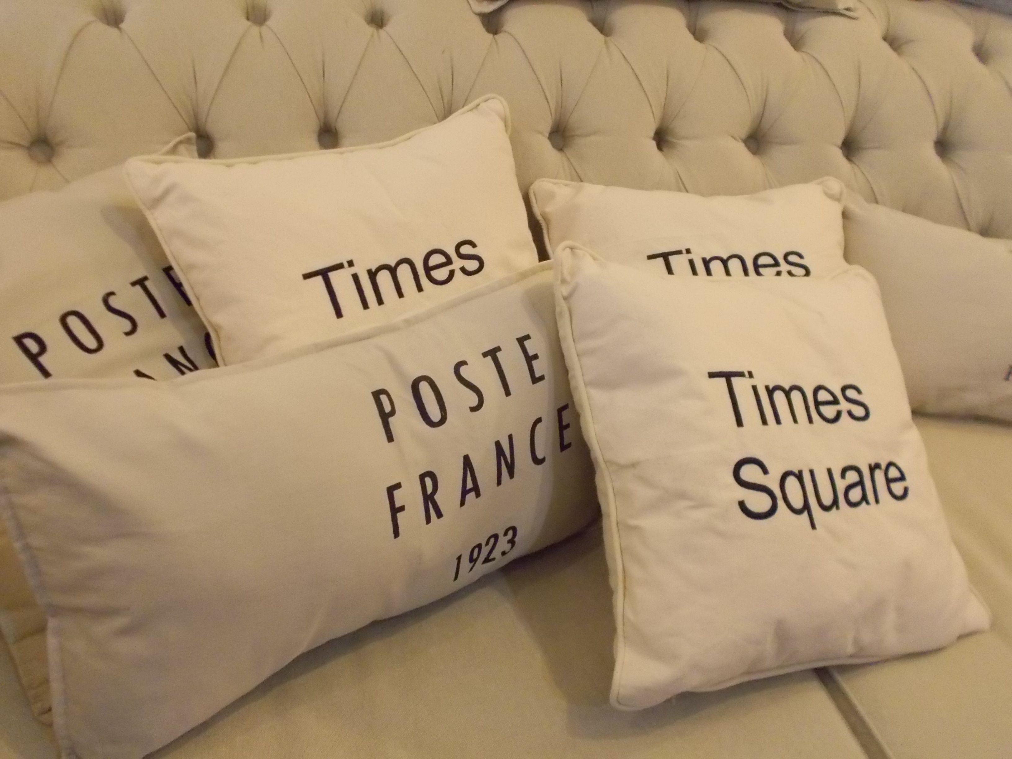 almohadones bordados y estampados