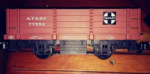 aristo craft trains g scale a t s f 2 axle gondola art 40002 pre owned ebay