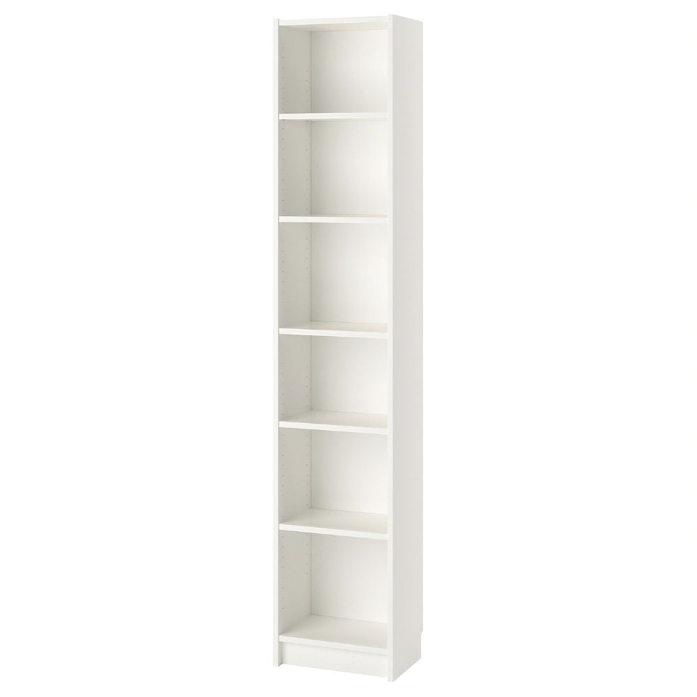 Billy Bookcase White 15 3 4x11x79 1 2 In 2020 White Bookcase Billy Bookcase Ikea Small Spaces
