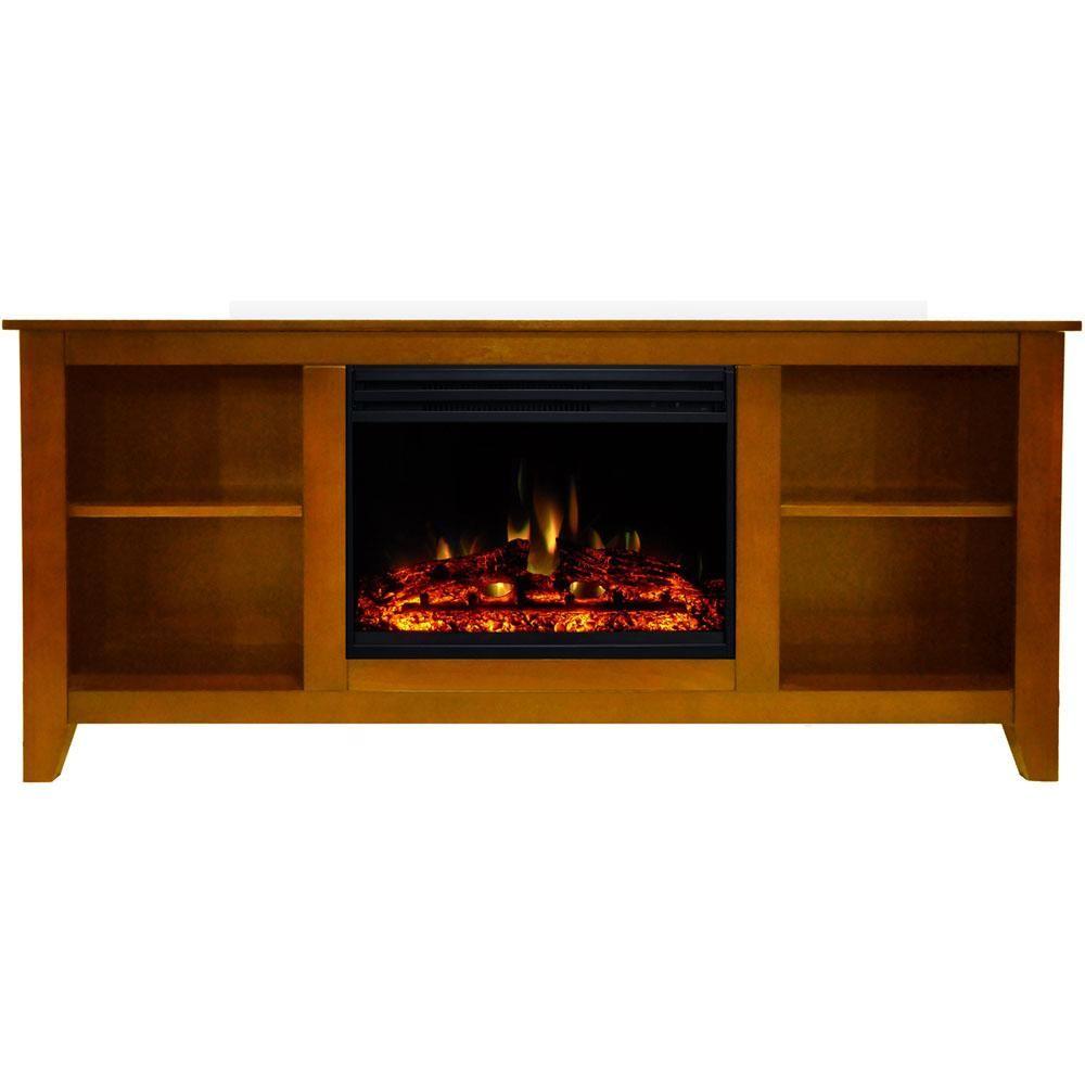 Cambridge Santa Monica 63 In Electric Fireplace Heater Tv Stand