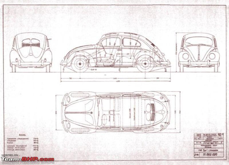Line Drawing Vw Beetle : Alguém quer construir um fusca aí d