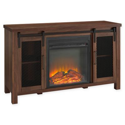 Forest Gate Englewood 48 Console Table With Electric Fireplace In