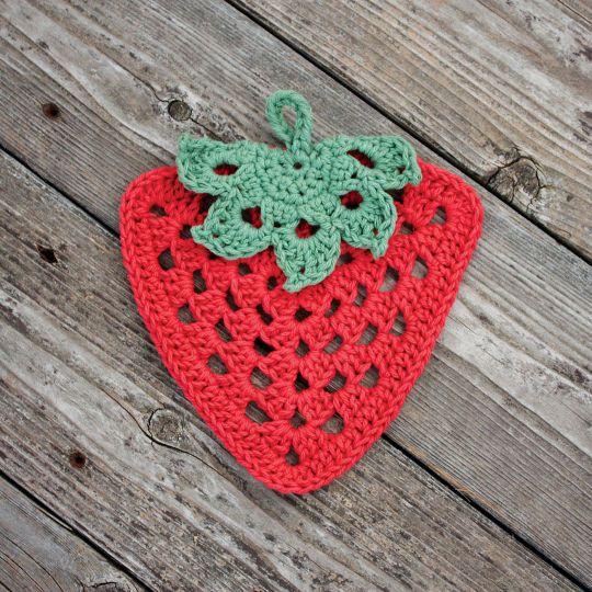 Bernat® Handicrafter™ Cotton It\'s the Berries Crochet Dishcloth