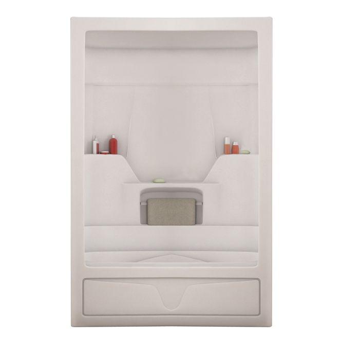 "Shower Grab Bars Rona 3-piece ""aspen"" bath with shower   rona   bathroom   pinterest"