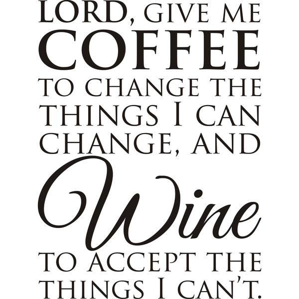 Design on Style Lord Give Me Coffee Black Vinyl Art Quote
