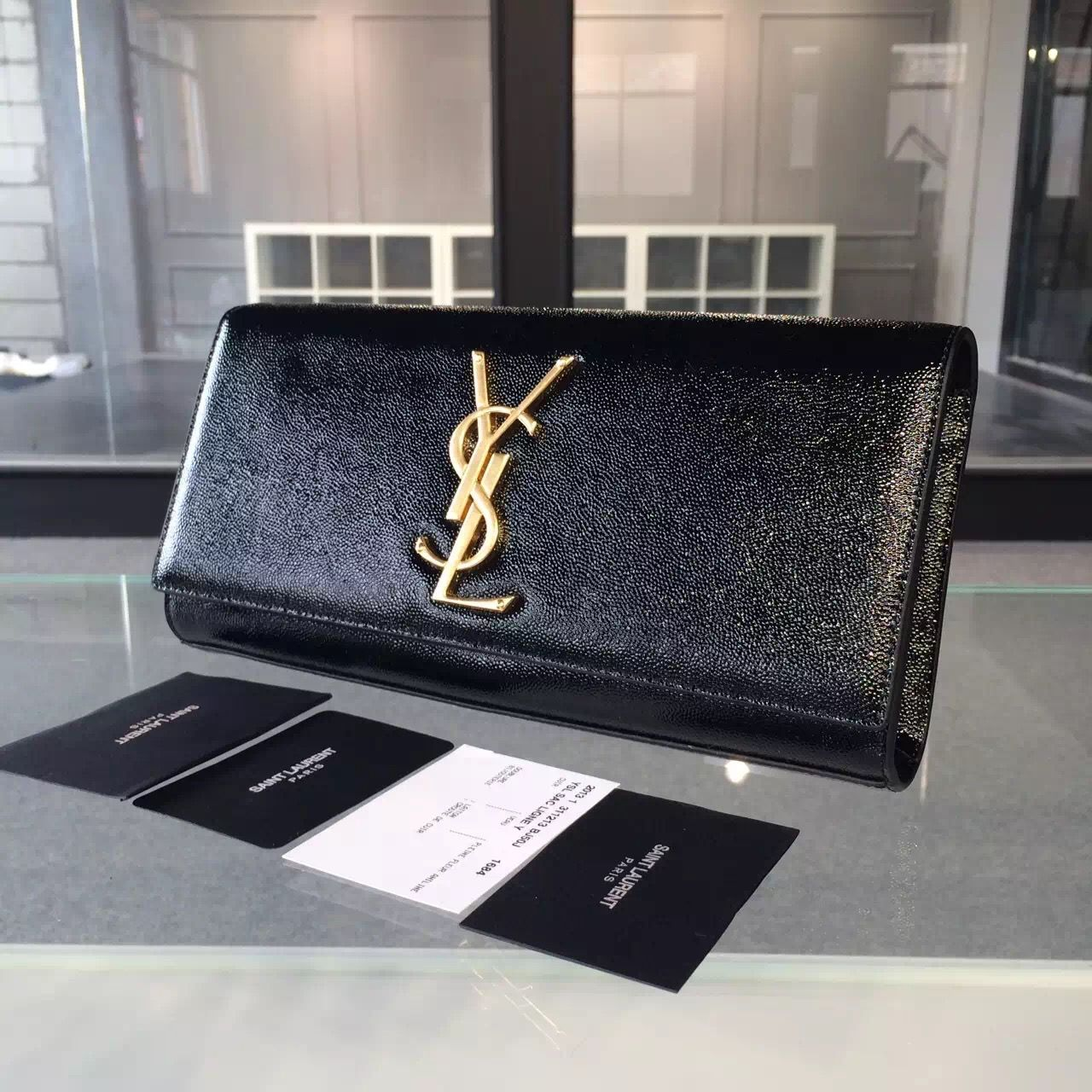 a8ea1c48bbc Saint Laurent 326079 Classic Monogram Clutch in Burgundy Crocodile Embossed  Leather | YSL Clutch Sale | Monogram clutch, Designer bags for less, Leather