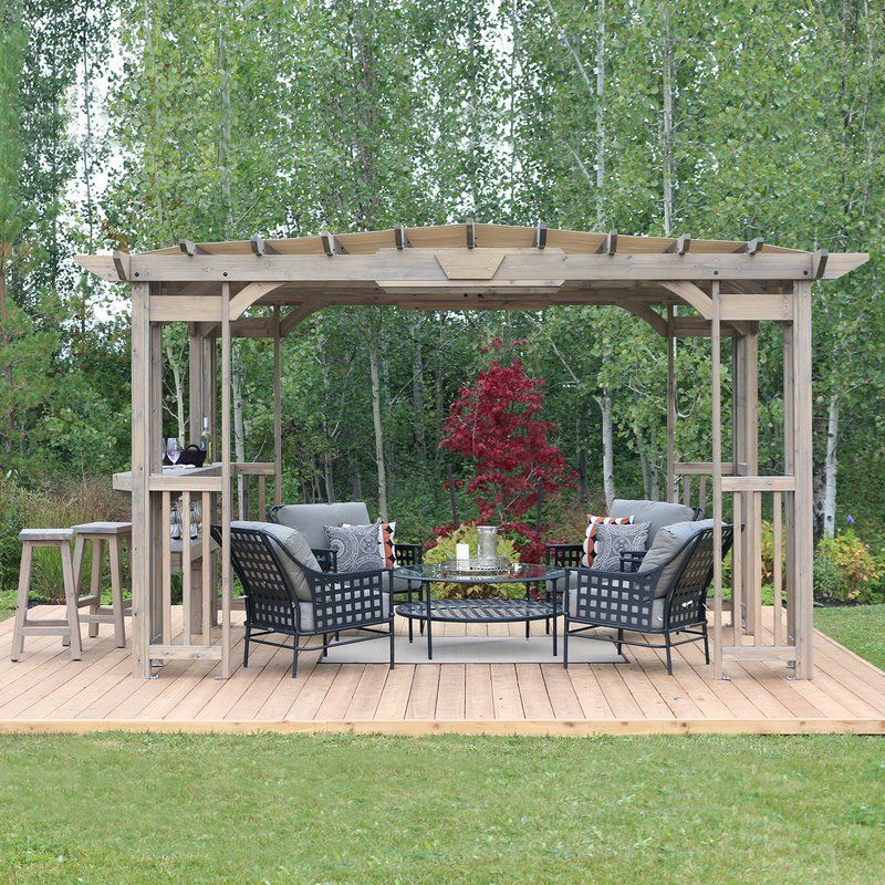 Madison 14 Ft. W x 10 Ft. D Solid Wood Pergola Outdoor