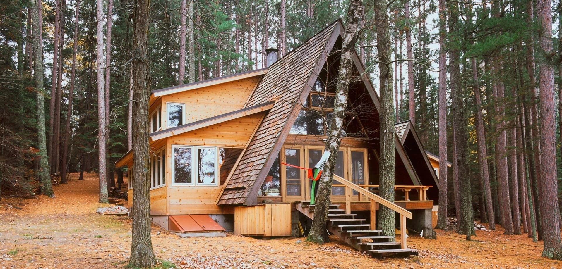 Peterson Cabin Addition Sala Architects Inc A Frame