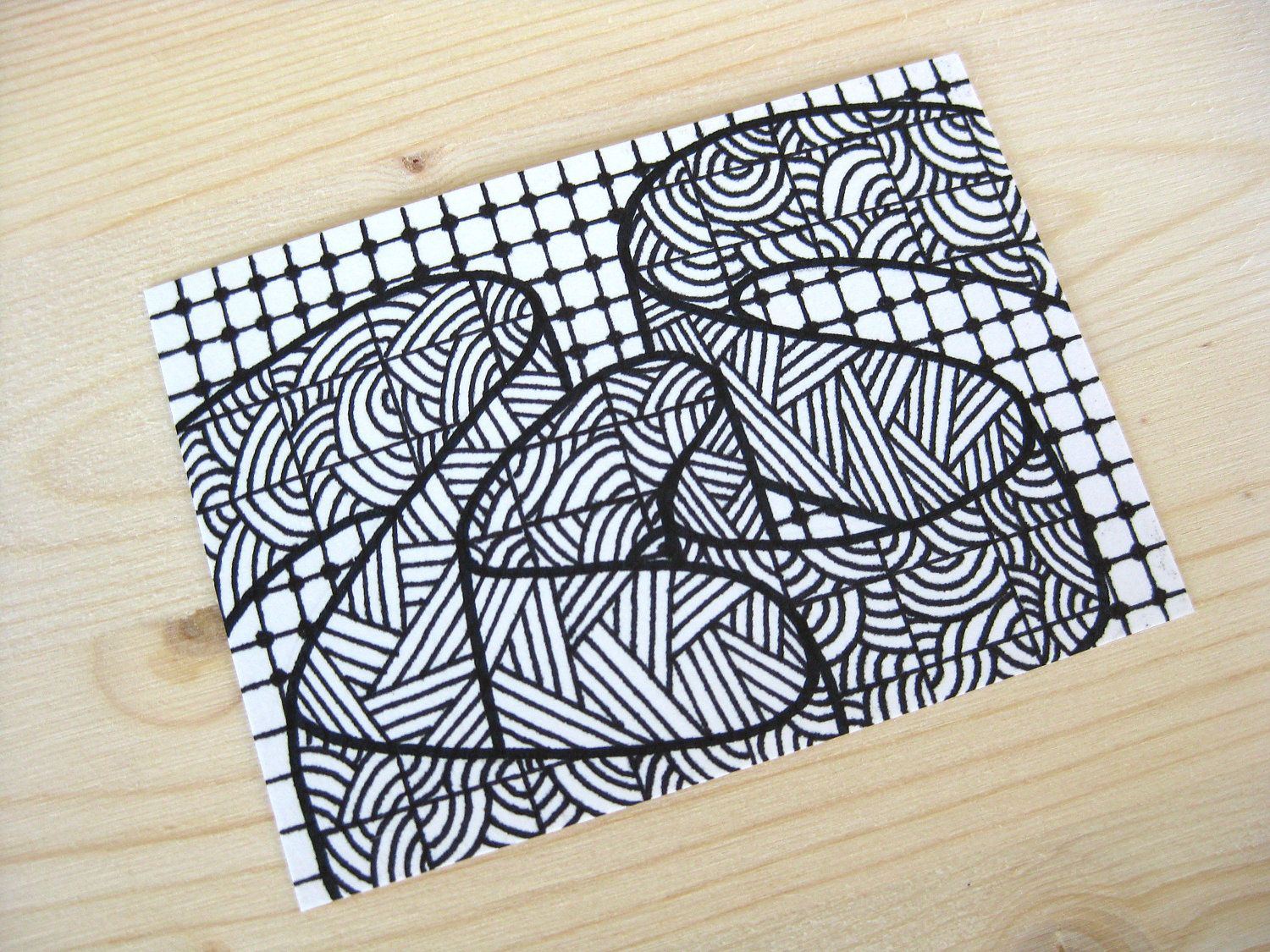 Inspired by neopoprealism - Abstract drawing with Ink pen (pattern ...