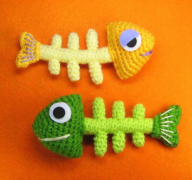Fish Bone Skeleton Crochet Pattern Amigurumi Fish And Crochet
