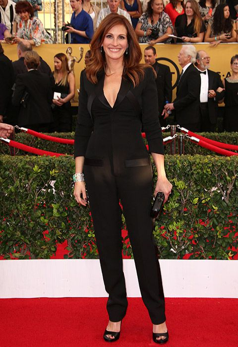 Julia Roberts werks it in a Givenchy jumpsuit at the 2015 SAG Awards