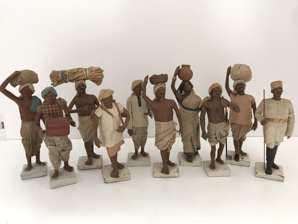 Ten Clay Dolls of Krishnanagar Bengal, Servants And Tradespeople, 19th  Century | Clay dolls, 19th century, Century