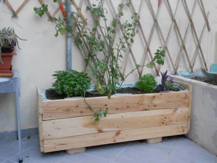 fabriquer une jardinire en bois - Fabriquer Jardiniere Avec Palettes