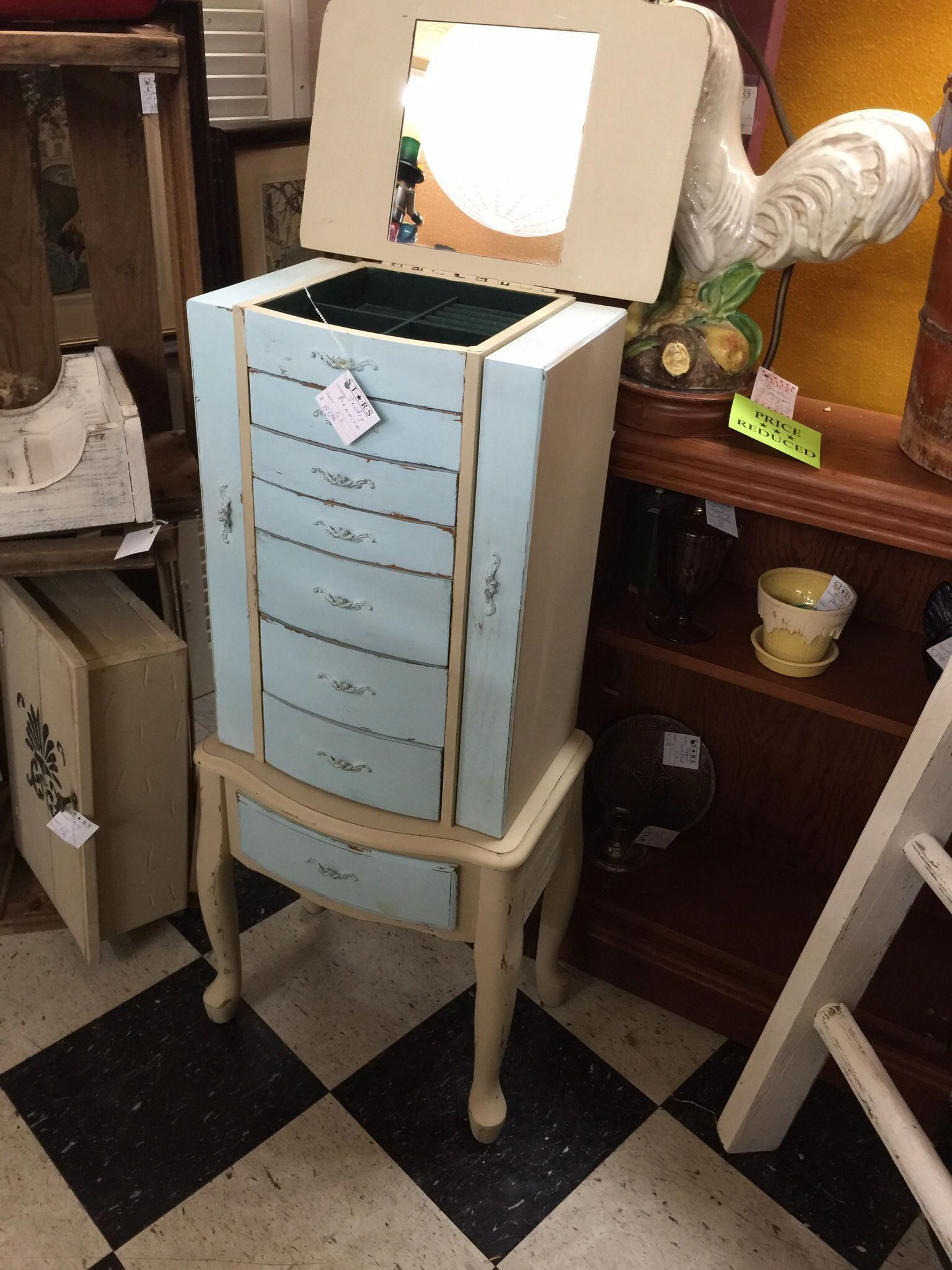 jewelry armoire chalk painted and shabby chic for sale at stars rh in pinterest com