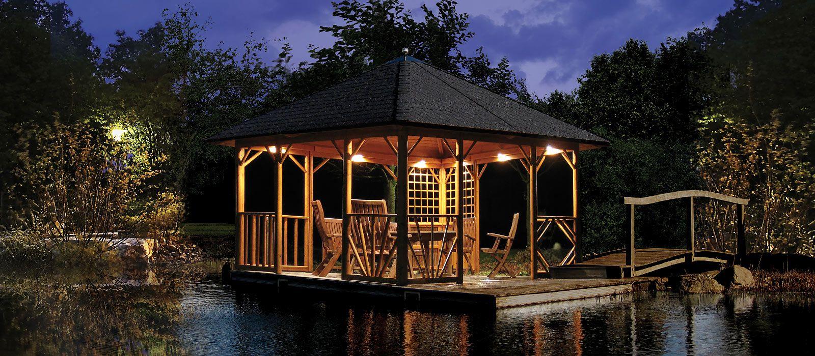 Pavillon Selber Bauen Schafft In Der Nacht Eine Romantische Atmosphäre