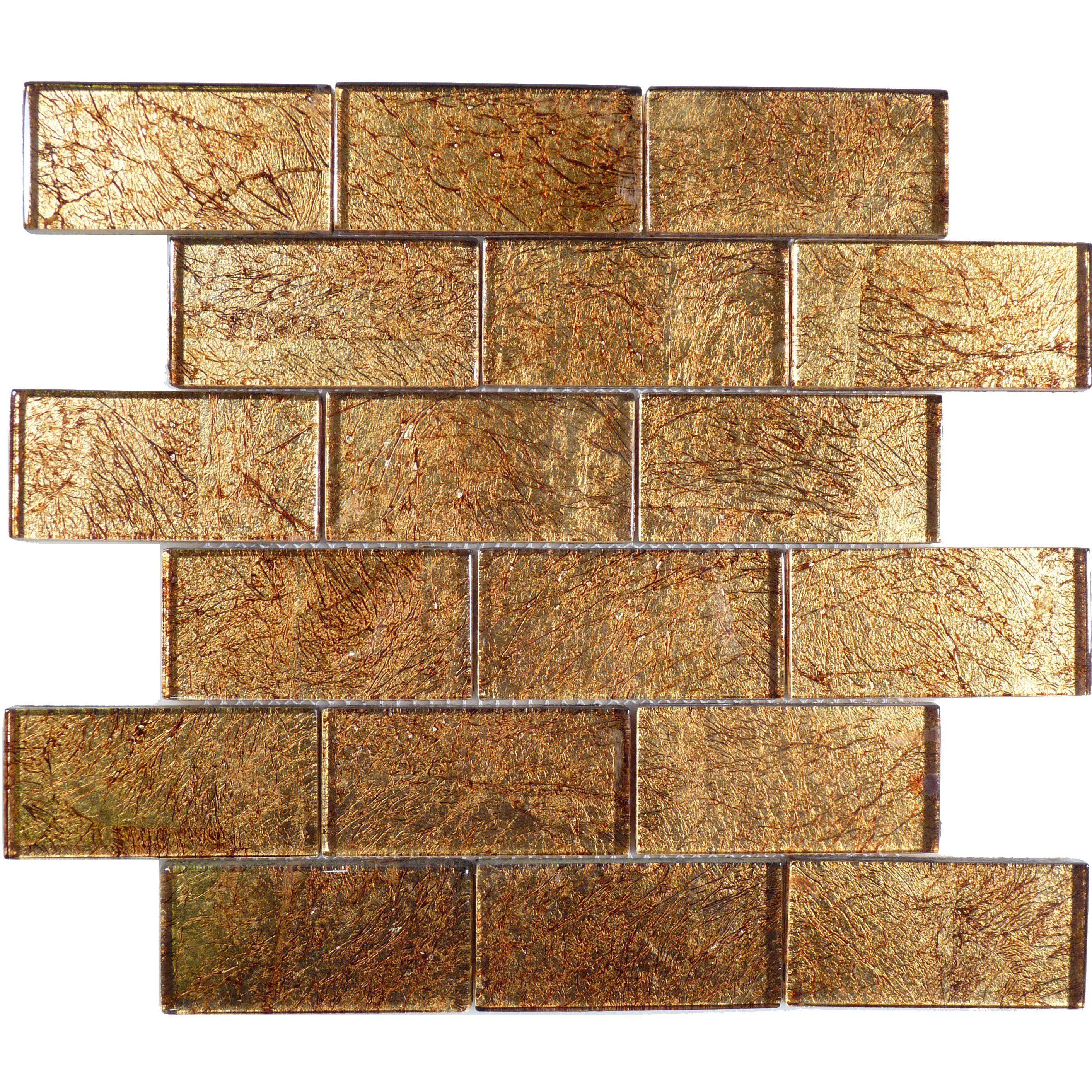 Golden Gold 2 X 4 Gl Glossy Tile Subway Tiles