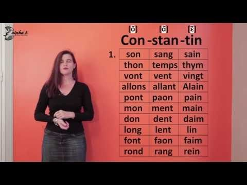 french pronunciation phon?tique les nasales free french lesson
