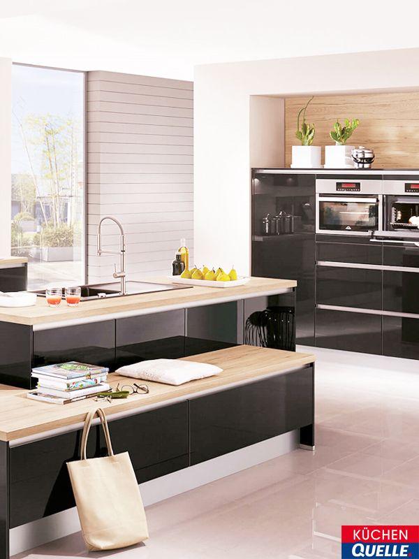 Pin by KÜCHEN QUELLE - Ideen für Ihre Küche on Schwarze Küchen - www küchen quelle de