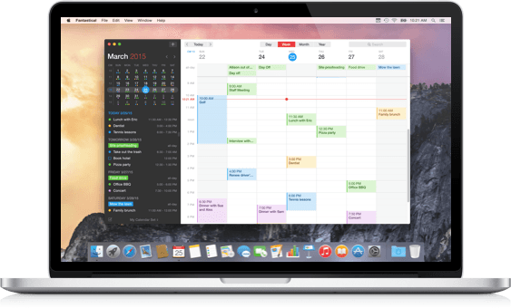 Fantastical 2 For Mac Calendar App App Mac