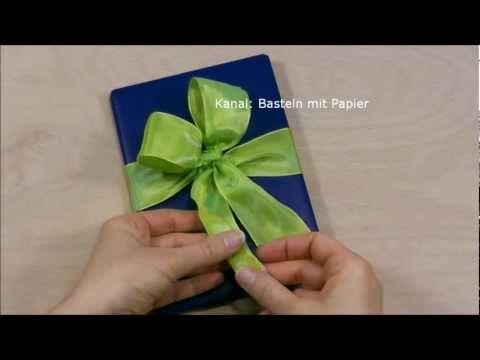 Schleife binden zum geschenke verpacken f r weihnachten diy geschenkschleife zum einpacken - Schleife binden youtube ...