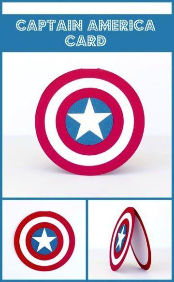 Invitaciones De Capitan America Hechas A Mano Tarjetas