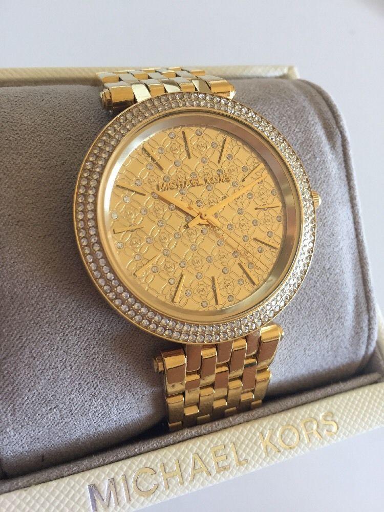 Michael Kors Mk3398 Gold Tone Darci Watch Ebay Michael Kors Michael Kors Darci Watches