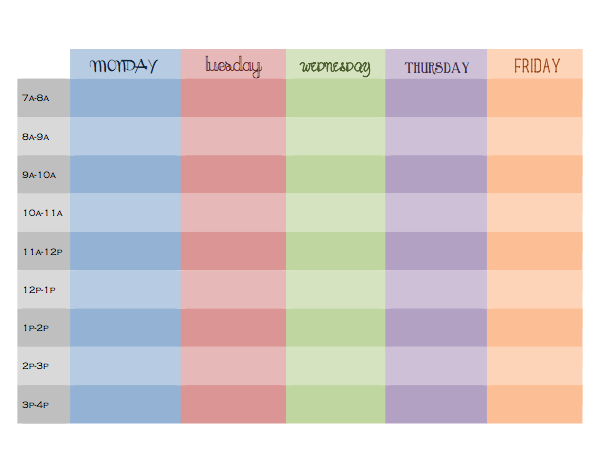 Organize Your Day Hourly Schedule Printable  Our Life In Four