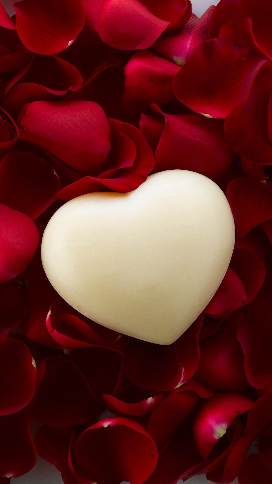 White heart rose petals art heart art pinterest - Pink roses and hearts wallpaper ...