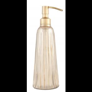 Dispenser sapone in vetro e ferro bronzo